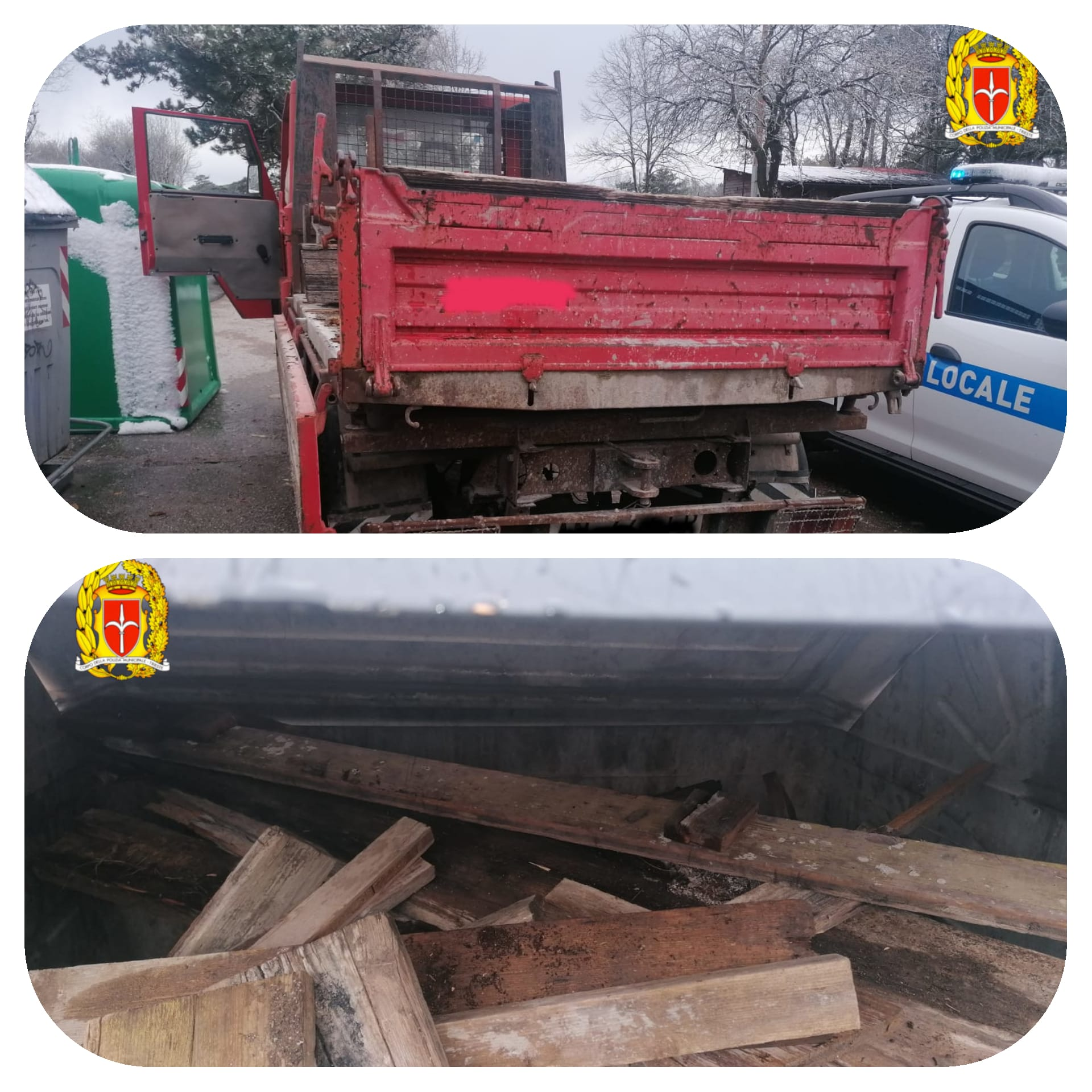 Deposita travi di legno: multato dalla PL